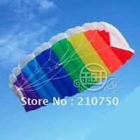 Flying hope! Hot Sale! Beauty 2 m Rainbow Stunt Parafoil Power Sport Kite Designer Kite Surf Nylon Kite Fabric Free Shipping