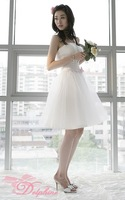 NEW Fashion Bridesmaid dress short paragraph,The Korean version Bra Bridal wedding dress