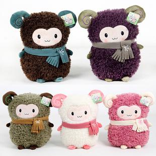 Sheep doll scarf sheep dolls plush toy little sheep hand warmer pillow