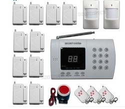 New Wireless PIR Home Security Burglar Alarm System Auto Dialing Dialer Easy DIY home security alarm+ Free Shipping!(China (Mainland))