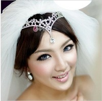 Free Shipping! Bride rhinestone hair accessory  wedding dress accessories Forehead lace HG011