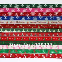 "Free shipping 70Yd 3/8""   Christmas Mixed  Grosgrain Ribbon   new wholesale /retail U PICK"