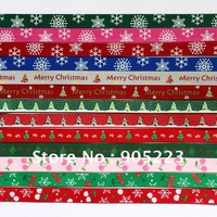 "Free shipping 70Yd 3/8""   Christmas Mixed  Grosgrain Ribbon   new wholesale /retail U PICK"