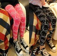 KZ-504,5 pcs/lot 2012 new autumn baby elasticity leggings hello kitty girl's skinny pants 2 color kid's tight trouser wholesale