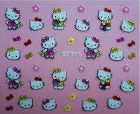 Retail Retail 3D Nail Sticker Hello Kitty Designs Nail Art Stickers   (SX-191)