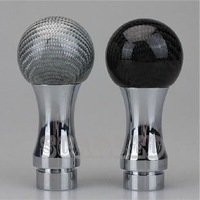 Car Personality Manual Shift Knob Universal 531 Section Aluminum Alloy & Carbon Fiber Shift Knob