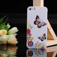 Butterfly Heart Pattern Plastic phone Case Cover For iPhone 5 5th, Wholesale Free Shipping 10pcs