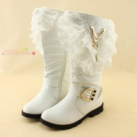 free shipping 2013 winter children princess snow boots, girl high-leg  genuine leather boots, kids cotton boots 26-37