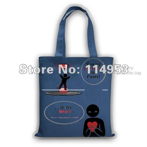 Blue Tote Bag valentine&#39;s day Economy Blue Custom Fashion Style Tote Bag(China (Mainland))