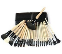 10pcs Wholesale!Pro Makeup Cosmetic Brush 24 pcs Set + Soft Case