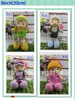 HOT Good quality Toy factory sell best plush dolls toys 8inch girl boy Christmas gifts 120PCS/LOT EMS Free shipping