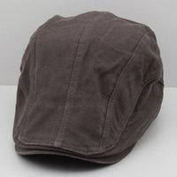 Classic plain 100% cotton duckbill cap male hat outdoor cap sunbonnet female summer