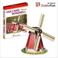 Dutch windmill mini 3D jigsaw puzzle model for children  Baby educational toys family interaction + free shipping