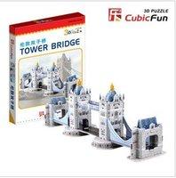 London Gemini bridge mini 3D jigsaw puzzle model for children  Baby educational toys family interaction + free shipping