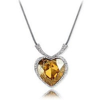 Christmas Gift Sapphire Titanice Heart White Gold Plated Gold Crystal Pendant for prevalent elements k149  Min order=15usd
