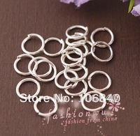 Lot 1000 Pcs silver Plated 6mm Jump Rings Findings Free shipping Wholesale