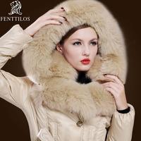 Free shipping 2012 fur down coat female high quality plus size fashion luxury medium-long large fox fur 313