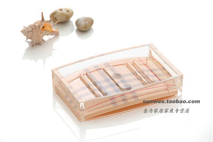 Beige Bath Soap dish/ Bathroom Sets soap dish holder(Hong Kong)