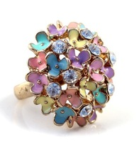 R001T   Fashion accessories sparkling  multicolour oil exaggerated ring  wholesale charms TS-3.99