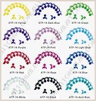 FedEx&DHL Freeshipping - French Nail Art Wrap Tips 100pcs/box 12 Colors Short Wrap Tips French Manicure Set