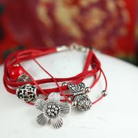 Tibet accessories tibetan silver bracelet female little daisy 02984