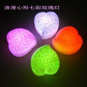T-0104 romantic heart colorful lights small night light mini lamp automatic color light wishing lamp