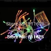 20pcs /lot  Multicolour 4m 40 LEDs Battery LED Mini Fairy String  Lights  LED Battery String Fairy Light  For Christmas Wedding