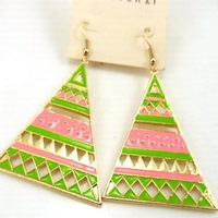 colored glaze fashion earrings drop earring  fashion accessories E040 free shipping for Min order $15