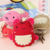 Cartoon pocket choula keychain key wallet cloth storage bag sn1363