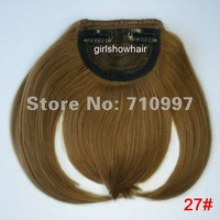 Clip in synthetic Bangs ,synthetic fringe,Women hair bang ,Clip in Bangs ,Fringe Human Hair Extensions ,color 27#,1pc