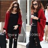 Free shipping 2012 new women's thin of knitting cardigan sweater jacket shawl loose long coat Euramerican style