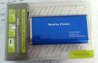 8000mAH Power bank, double USB, Output current 2A Max, output Voltage 5V-5.5V