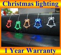 LED Christmas light Xmas Led Lighting Color Mixed Xmas Bell 1.5M 5pcs/set 50pcs led bulbs,Holiday  New Year party Led Lighting
