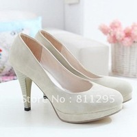 HOT Selling Beauty shoes new arrival plain casual platform thin heels high-heeled shoes round toe single pumps Free shipping