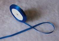 "wholesale-free shipping 1/4"" 6mm 25yds/pcs   Wedding Party Craft  Satin Ribbon blue"
