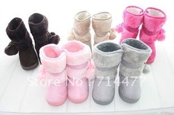 Free shipping! 2012 hot sale high quality Children double ball snow boots little princess cotton-padded shoes for girls and boys(China (Mainland))