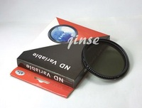 free shipping 52mm Fader Variable ND Filter Neutral Density ND2 ND4 ND8 ND16 ND32 to ND400