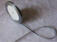 "wholesale-free shipping 1/4"" 6mm 25yds/pcs   Wedding Party Craft  Satin Ribbon metal gray"