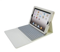 ~Free shipping~ Bluetooth Wireless colorful Aluminum Keyboard with PU case PU Cover  for PC Ipad 2 Ipad 3 Tablet PC - P2013