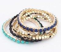Multi-layer Metal Wild Flexible Bracelet Bangle Most Popular Bracelets For Women Wholesale #92455 Free Shipping