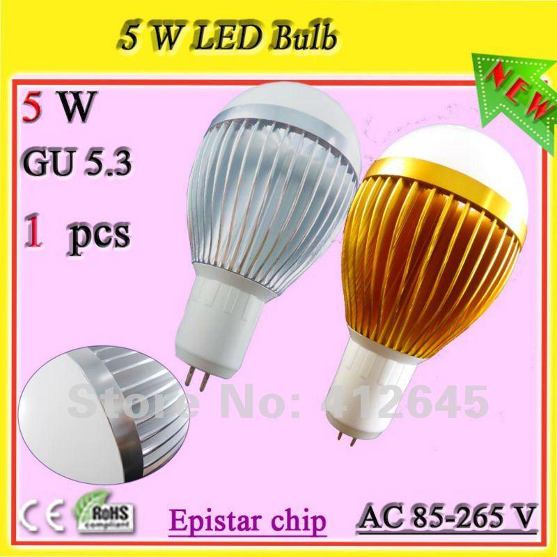 Different Types Of Light Bulbs Free Shipping Super Bright Gu5 3 5 Watt Ball Bulb