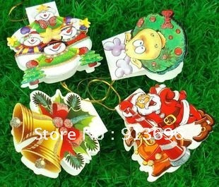 20 Designs, 160pieces/ LOT, Europe & American, Lovely Chirstmas Tree Greetings Card/ Deco Card, Free Shipping(China (Mainland))