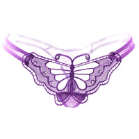 Free shipping Butterfly machine embroidery sexy perspectivity usuginu temptation sexy panties women's thong t