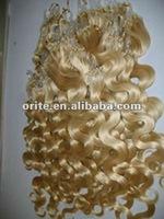 100% high quality Grade AAA micro loop hair extension