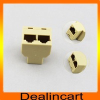 CAT5 RJ45 1 TO 2 Network Splitter Cable Extender Plug Coupler