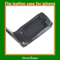 Flip leather case for iphone 4S iphone 4G
