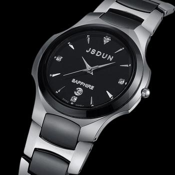 Watch tungsten ceramic quartz watch fashion wristwatch luxury wristwatch male watch