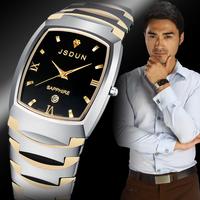 Watch tungsten steel male watch men's waterproof quartz watch luxury wristwatch fashion wristwatch 8608G