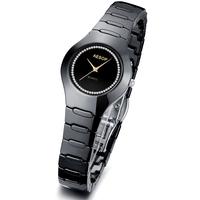 Aesop watch rhinestone inlaid wristwatch black ceramic watch sapphire dial women dress watches  free shipping 9901