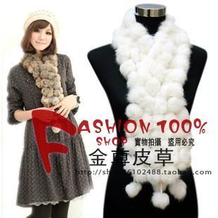 High quality volleyball scarf fur muffler scarf rabbit fur ball scarf rabbit fur scarf muffler scarf